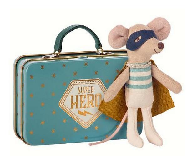 Maileg Superhero in suitcase