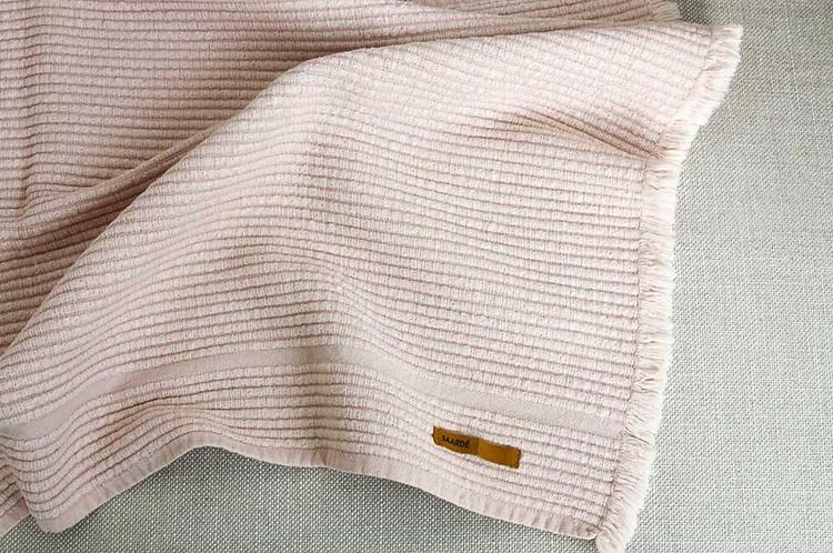 Vintage Wash Ribbed Bathmat - Dusty  Pink
