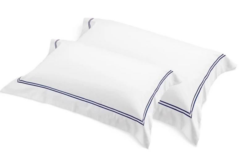 Classique Tailored Standard Pillow Case Set - Navy