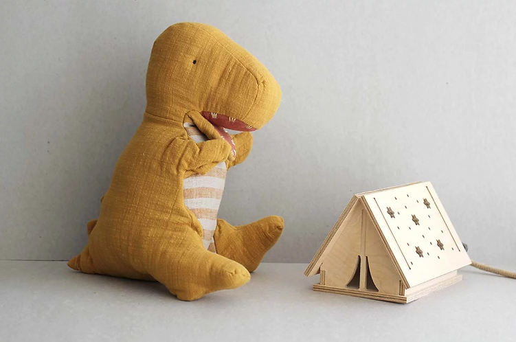 Maileg Dinosaur Puppet - Mustard