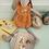 Thumbnail: Maileg Bunny Size 4 - Floral Motif Jumpsuit