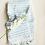 Thumbnail: Miss April Turkish Hand Towel - Pom Pom Pale Blue