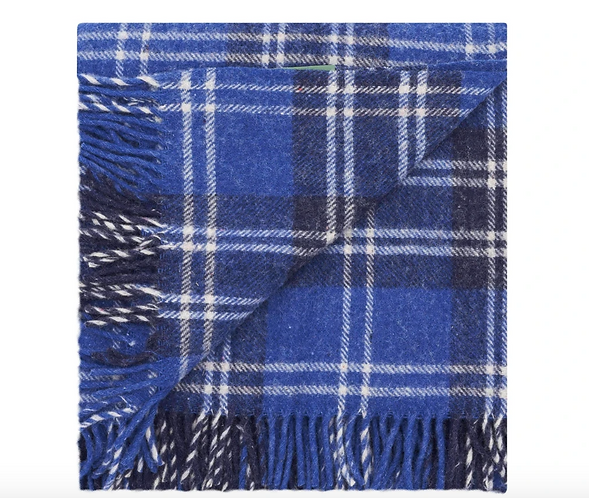 Recycled Wool Travel-Picnic Rug The Blues