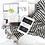 Thumbnail: Miss April Turkish Hand Towel - Pom Pom Black and White
