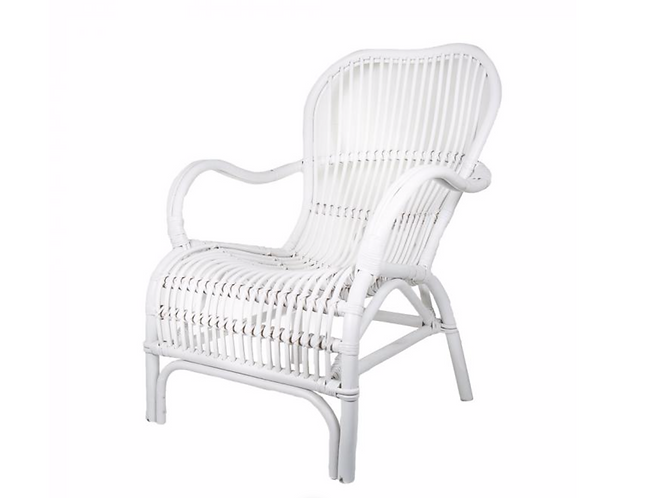 Rattan Veranda Chair - White