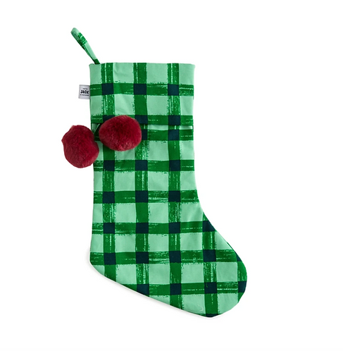 Stocking - Green Gingham