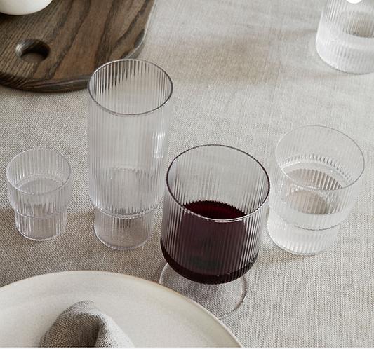 ferm LIVING Ripple Wine Glasses Set/2 - Clear
