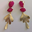 Thumbnail: Fuchsia She's gold earrings