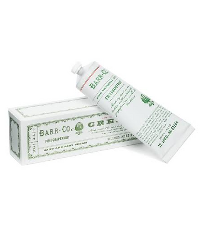 Barr Co fir and grapefruit hand cream