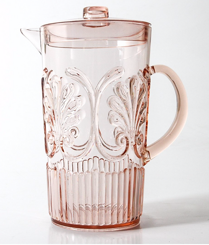 Acrylic Glassware Jug - Pink
