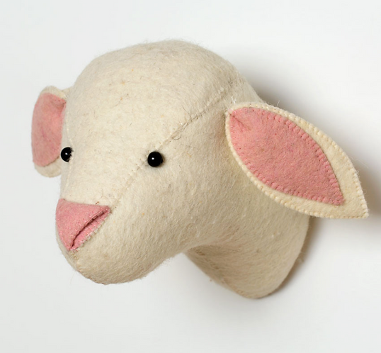 Felt lambs head