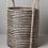 Thumbnail: Handwoven jute laundry basket - Stripe