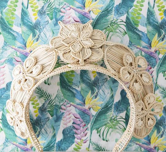 Polka Co bouquet head piece