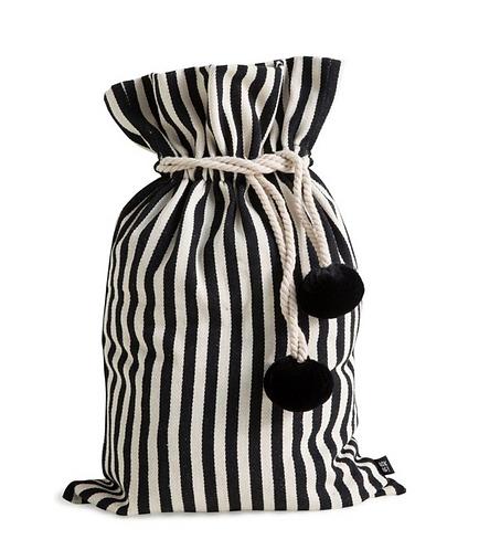 Santa Sack - Thick Black and White Stripe