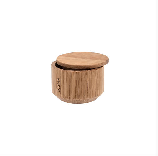 By Wirth Oak Salt and Pepper Jar with Lid