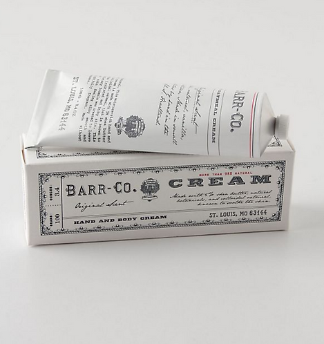 Barr Co hand cream tube - Original