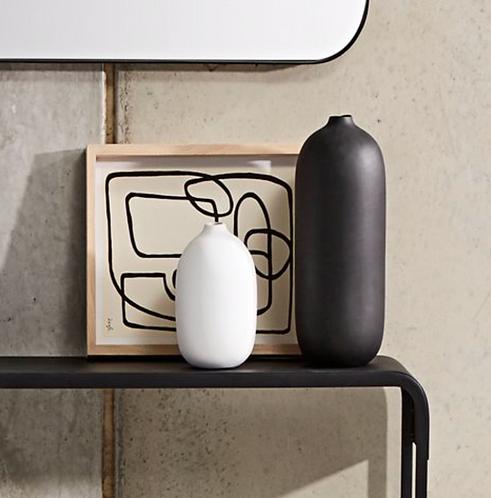 Taro White Organic Vase - Medium