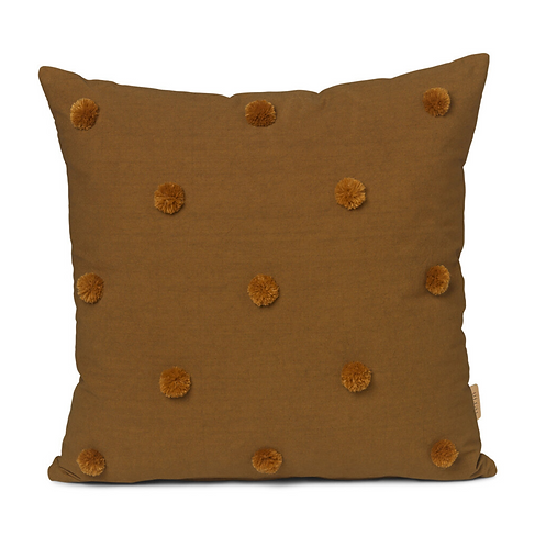 ferm LIVING Dot Tuffed Cushion - Sugar kelp/mustard