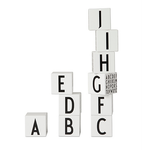 Designer Letters - Wooden Blocks A-Z