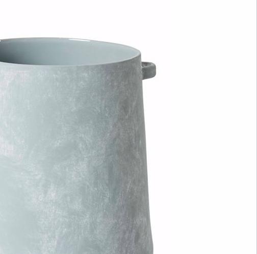 Tao Vase Large - Seaspray Glass
