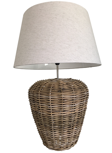 Oversized Rattan Lamp Base