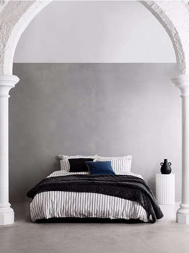 Rome Quilted Bedspread - Graphite