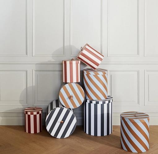 Oyoy Storage Box - Black Stripe