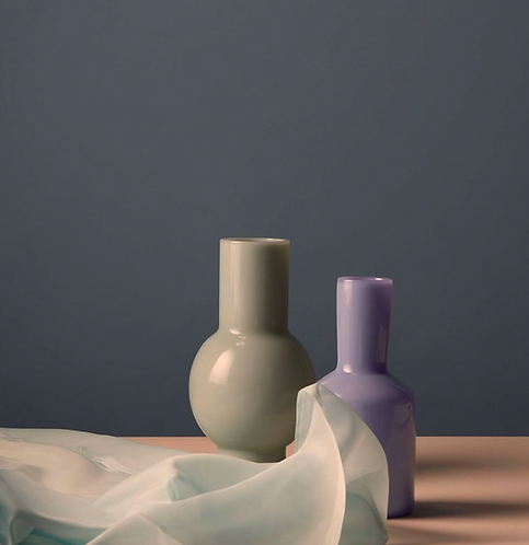Opaque Glass Vase - Mint