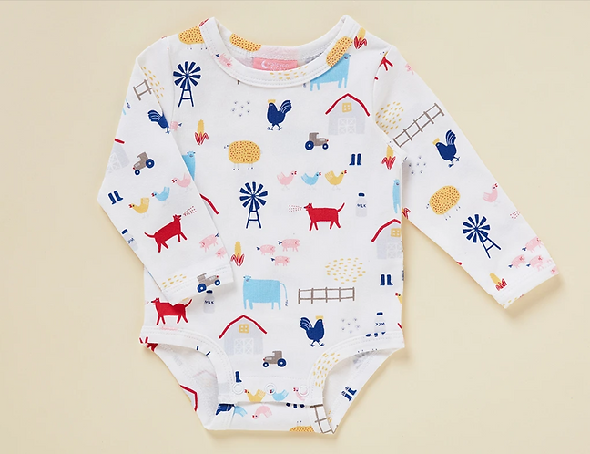 Halcyon Nights Farm Life - Long sleeve bodysuit