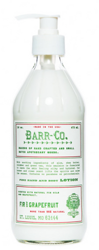 Barr Co fir and grapefruit body lotion