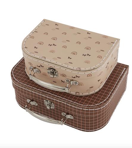 Oyoy Mini Suitcase Set - Grid and Rainbow