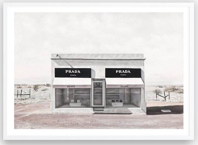 Prada Marfa framed artwork