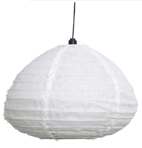 Bamboo and Linen Pendant - Marshmellow