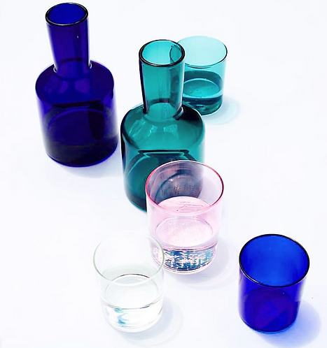 French inspired carafe and glass set