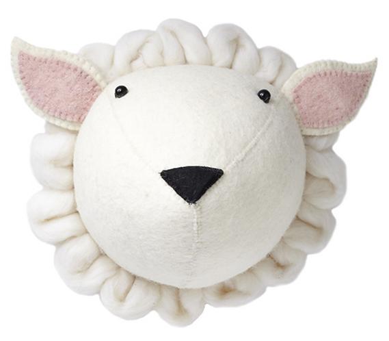 Felt sheeps head - midi
