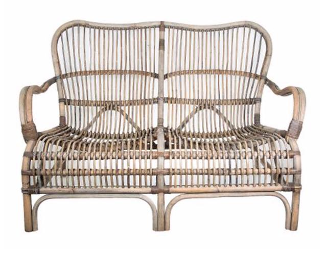 Rattan Veranda Two Seater Chair - Natural