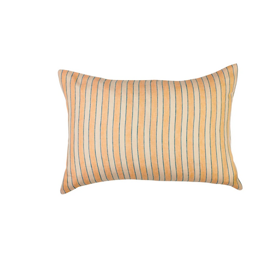 Sage & Clare Mathilde Stripe Standard pillowcase set - Cantaloupe