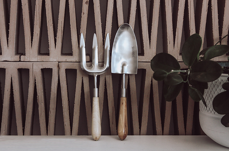 Silver gardening tools