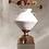 Thumbnail: Cato White Textured Organic Shaped Vase
