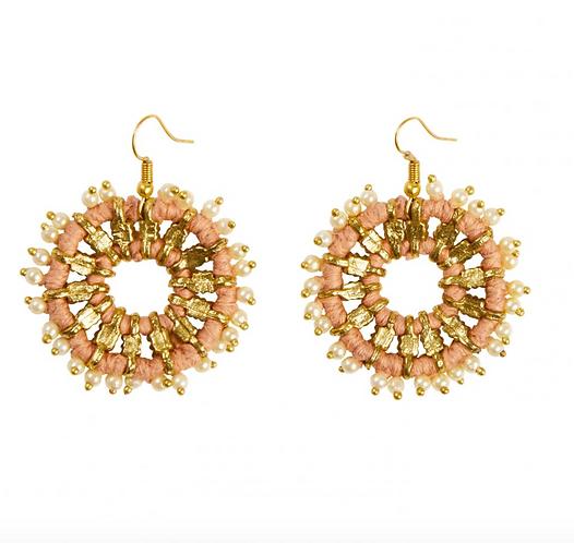Lantana Earrings – Dusty Pink