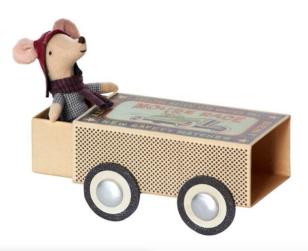 Maileg Mouse Big Bro Racer in box D