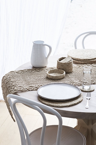 Handwoven jute placemats set/8
