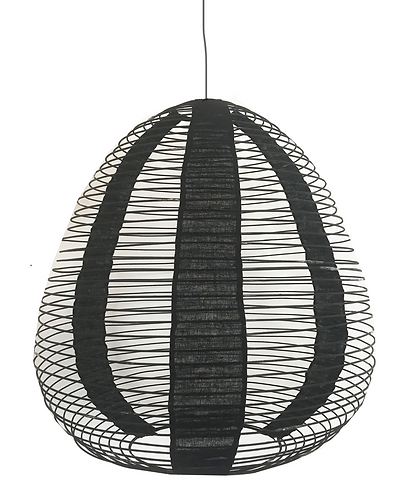 Bamboo and Linen Shade - Black