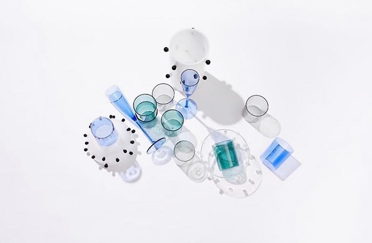 French inspired goblet set 4 - Azure