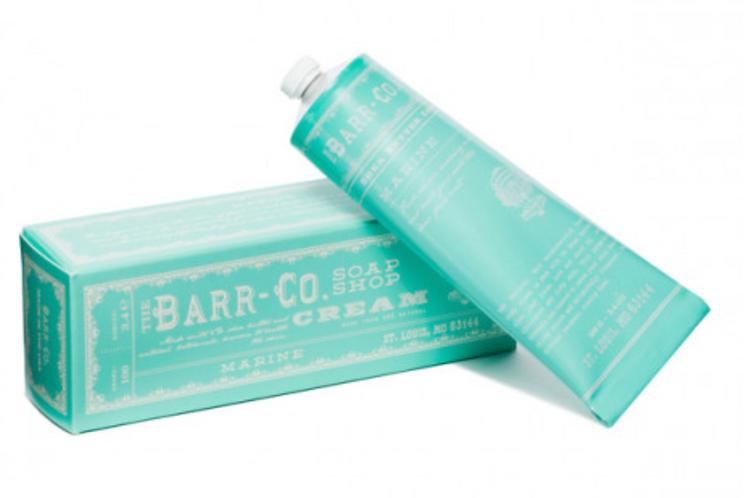 Barr Co marine hand cream tube