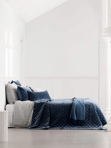 Rome Quilted Bedspread - Storm