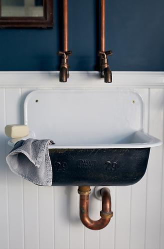 Vintage Wash Cotton Hand Towel - Grey