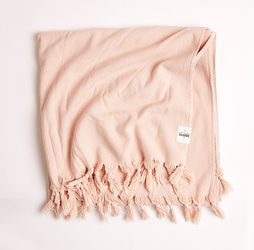 Vintage Wash Cotton Towel - Dusty Pink Towel
