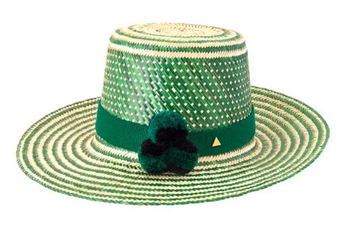 Safari pom pom hat
