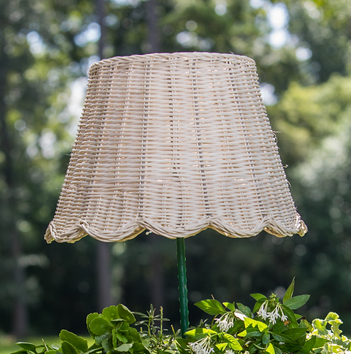 Small Scalloped Rattan Lampshade